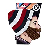 Beard Head - The Original Stubble Cruiser Knit Beard Beanie (Brown)