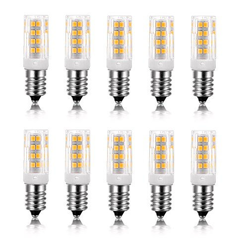 (Vlio E14 5W LED Light Bulb, 10 Pack, Warm White 3000K, 40W Incandescent Bulb Equivalent, 400LM 52 LED 2835-SMD Light, Not Dimmable, AC 110V )