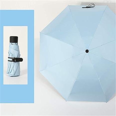BBQBQ Paraguas Plegables Mini sombrilla de Cinco Pliegues y ...