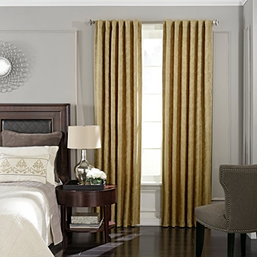 Beautyrest 16204052095GOL Germaine 52-Inch by 95-Inch Blackout Single Window Curtain Panel, Gold Review