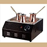 Authentic FLAT TURKISH ARABIC COPPER ELECTRIC HOT SAND COFFEE MAKER HEATER MACHINE 220V
