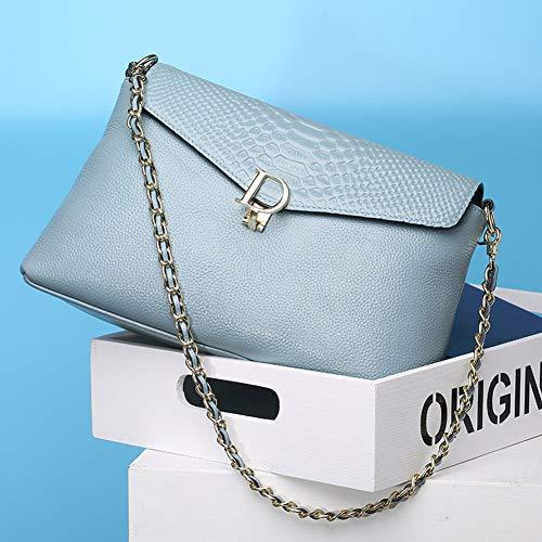 Hombro Cruzados color3 Genuino Embrague Bolsos Cuero Sobre Cremallera Mujer xya La X Bolso Bolso Embragues De Color3 qwpBRPO