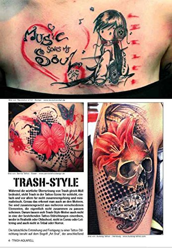 Trash Aquarell Vol 1 Tattoo Vorlagen Buch Amazon De Kruhm Verlag