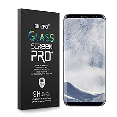 Galaxy S8 Plus Screen Protector, Full Coverage Case Friendly Scratch Resistant HD Clear Curved Tempered Glass for Samsung Galaxy S8 Plus (On Amazon Premium Dry)