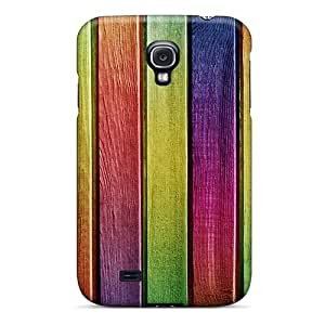 Hot Tpye Colourful Wood Painting Case Cover For Galaxy S4