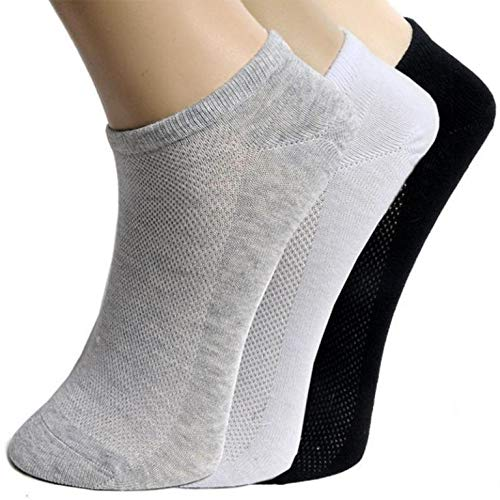 Tex Homz Men's Cotton Solid Ankle Socks for sports, Running, Yoga
