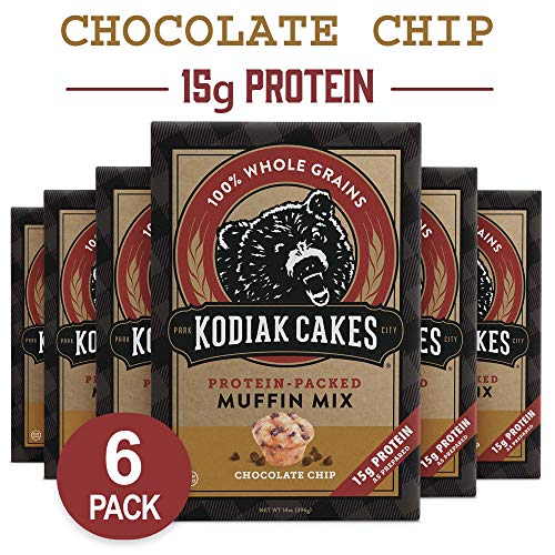 - Kodiak Cakes Muffin Mix, Chocolate Chip (Pack of 6)
