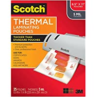 Scotch Thermal Laminating Pouches, 8.9 x 11.4-Inches, 5 mil thick, 25-Pack (TP5854-25)
