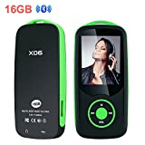 #10: Mp3 Player with Bluetooth 16GB Sport Music Player Support up to 64GB Green by OIKA
