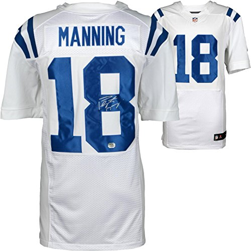 Peyton Manning Indianapolis Colts Autographed White Nike Elite Jersey - Fanatics Authentic Certified