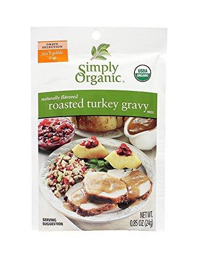 Simply Organic Roasted Turkey Gravy, Seasoning Mix 12x 0.85Oz