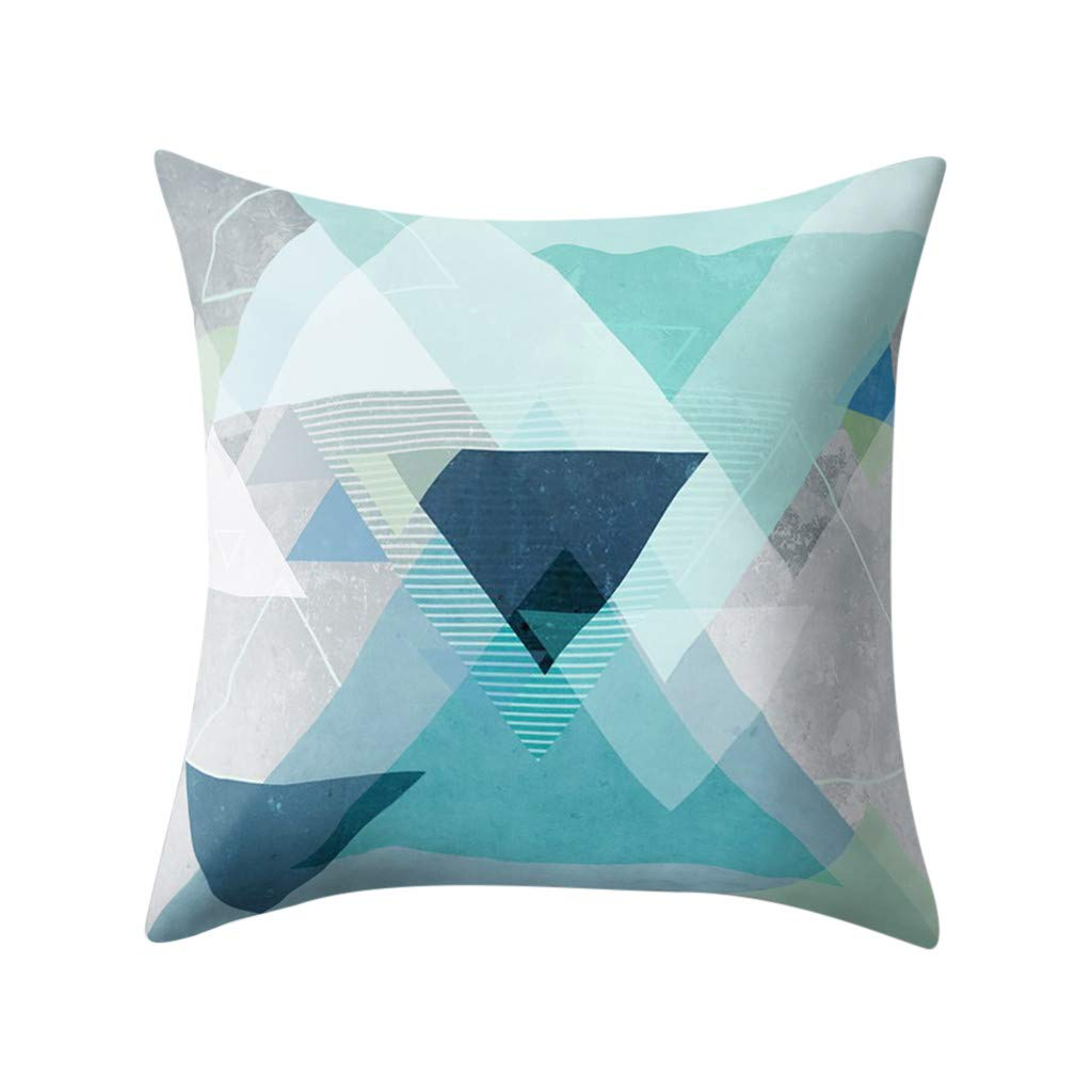 Happy Valentine's Day Sikye Geometric Graphics Throw Pillow Case Square Printed Cushion Cover for Home Sofa Couch Decor 18''x18'' (D)