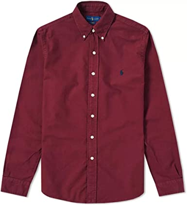 Ralph Lauren Camisa Polo BD PPC SP Burdeos XL Classic Wine: Amazon ...