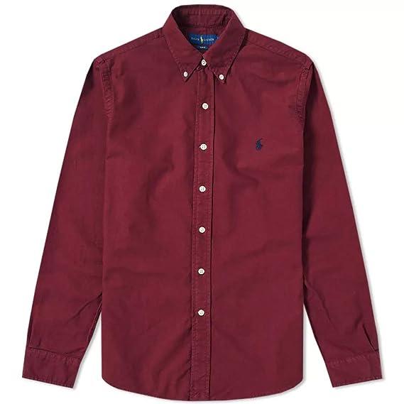 Ralph Lauren Camisa Polo BD PPC SP Burdeos XL Classic Wine: Amazon ...