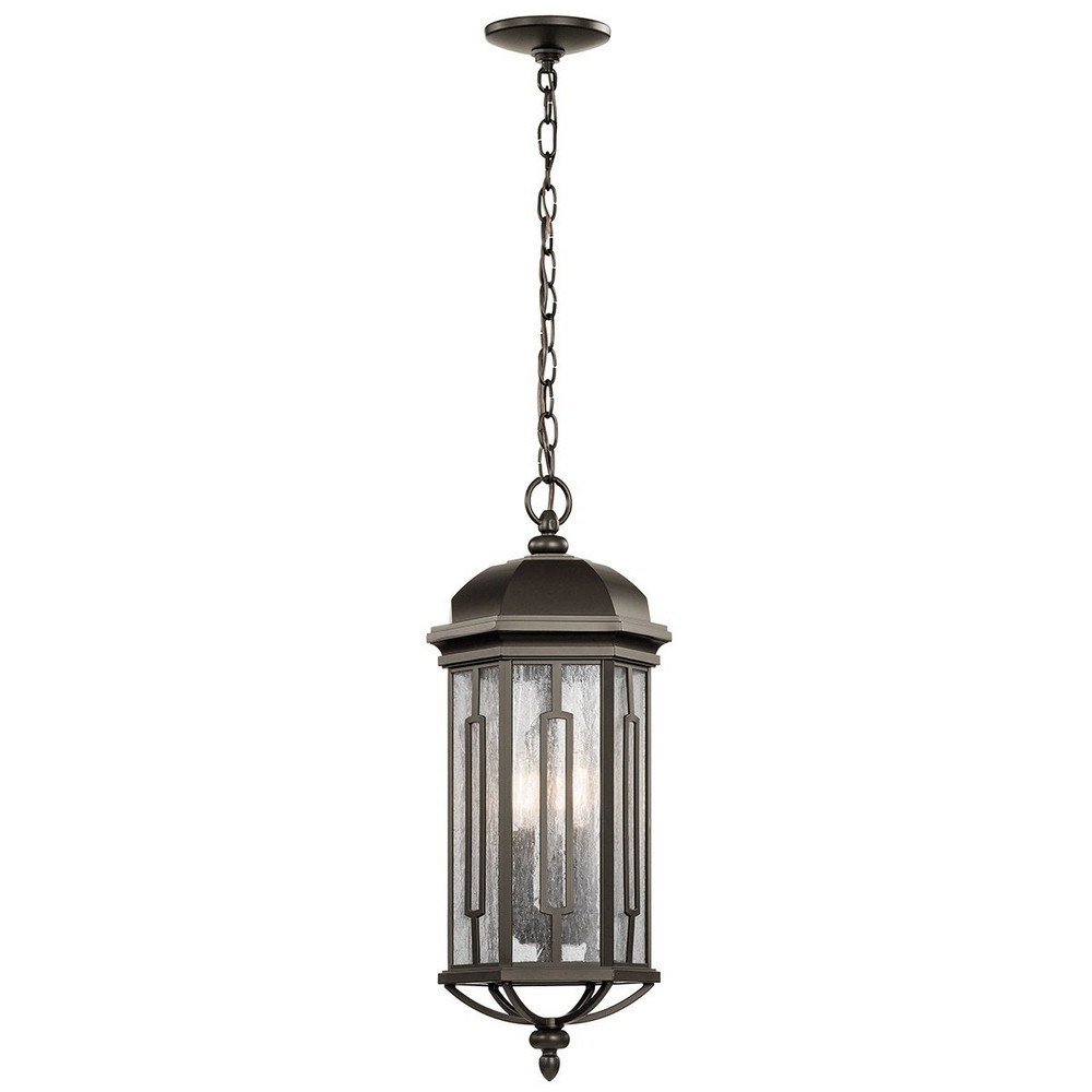 Kichler 49713OZ Three Light Outdoor Pendant by Kichler