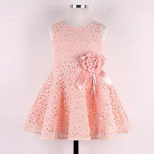 Seule Dentelle D'une De D'enfant Princesse Filles Florale Ppartie Pour Amlaiworld Fille Pièce ❤️robe Rose 0 Robe Enfants Pleine 7ans w8pzAfx0q