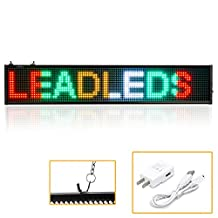 """Leadleds K1696MC LED Message Board RGB LED Sign Programmable Scrolling for Business Home Decoration Christmas Sign Lighting (20"""" x 4"""")"""