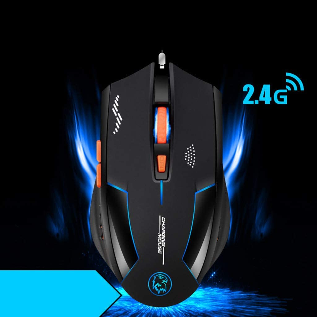 2400DPI Wireless 2.4G Rechargeable 6 Buttons Optical Usb Ergonomic Gaming Mouse