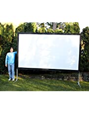 Visual Apex Projector Screen 144HD Portable Indoor/Outdoor Movie Theater Fast-Folding Projector Screen with Stand Legs and Carry Bag HD4K 16:9 format