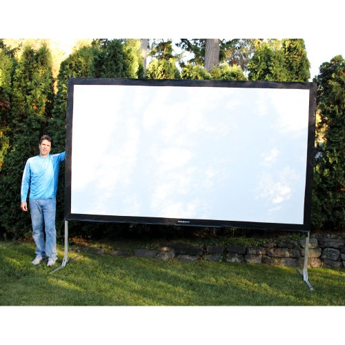 Visual Apex Projector Screen 144' 4K Portable Indoor/Outdoor Movie Theater Fast-Folding Projector Screen with Stand Legs and Carry Bag HD 16:9 format