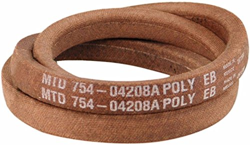 MTD LT2000 T1200 T1400 Drive Belt 954/754-04208 for Craftsman Troy-Bilt Bronco + --W#436BRE T44/35PDS507639 (Craftsman Tractor Garden)