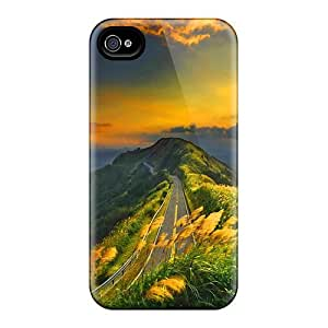 ELcTXEo267AXyUw Road At Sunset Awesome High Quality Iphone 4/4s Case Skin