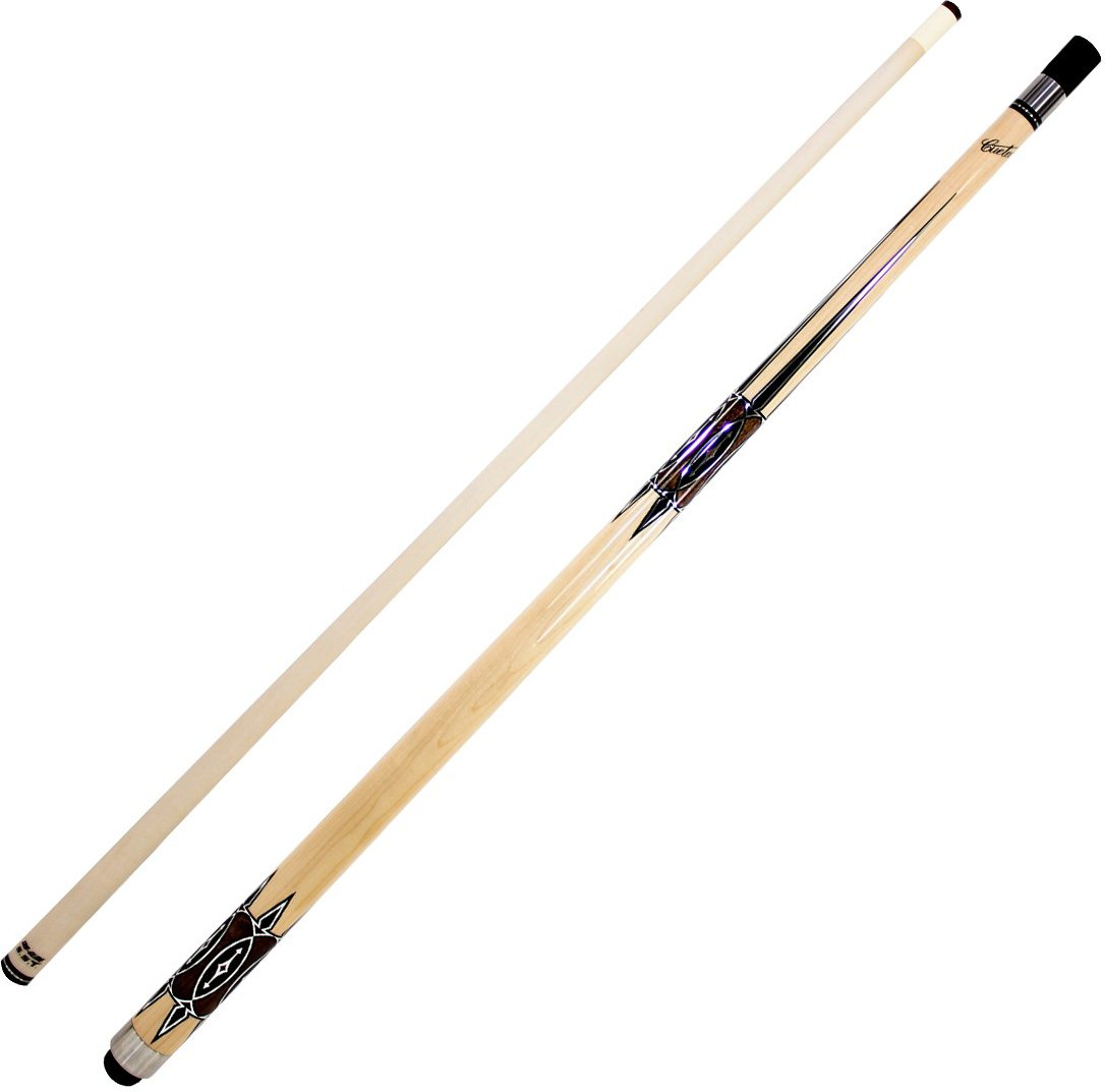 Cuetec Natural Series 58'' 2-Piece Canadian Maple Billiard/Pool Cue, Unwrapped, Brown Hourglass