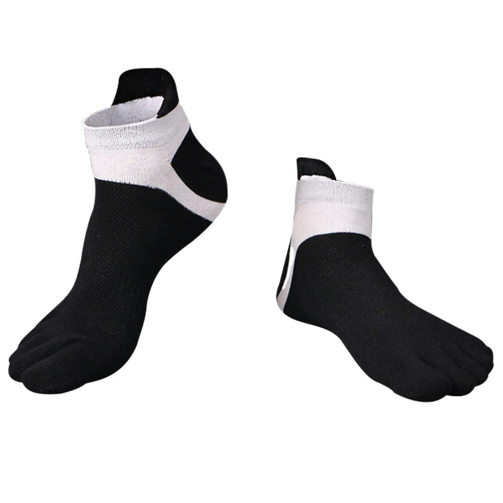 DESDEMONA Mens 6 PAIRS TOE SOCKS Soft /& Comfortable Five Finger Running Socks