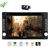 EinCar Android 5.1 Quad Core 2 din Car DVD CD Player 6.2 inch Double Din Capacitive Multi-Touch Screen GPS Navigation Radio Stereo Support Bluetooth/SD/USB/FM/AM/Wifi/Mirror Link/Rear Camera