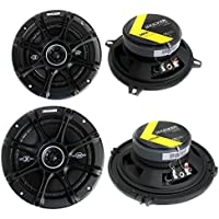 Kicker 5.25 200W (Pair) + Kicker 6.5 240W 2-Way Car Coaxial Speakers (Pair)