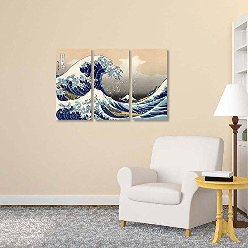The Great Wave Off Kanagawa Wall Decor x 3 Panels
