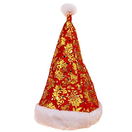 Dressin Happy Christmas Hat,Party Santa Hat Red and Blue Cap for Santa Claus Costume(1PC/ 2PC/ Optional) ()