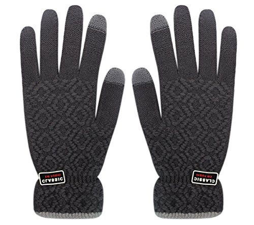 Men & Women Winter Touch Screen Texting Gloves Warm Knit Mittens for Smartphone iPad