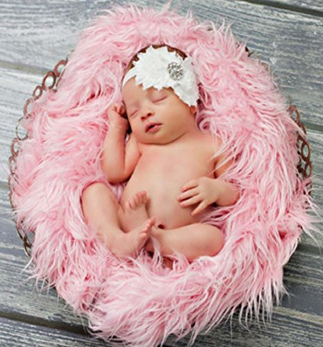 Different Green Arrow Costumes (Mikey Store Baby Photo Props Newborn DIY Photography Soft Fur Quilt Photographic Mat (Pink))