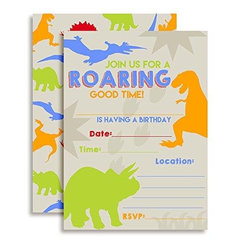 (Dinosaur Bite Boy Birthday Party Invitations, 20 5