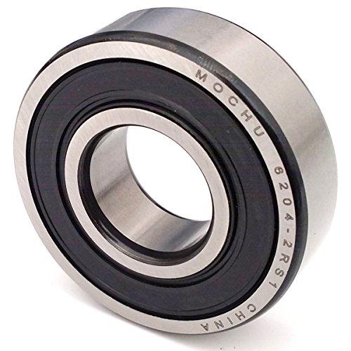 MOCHU Bearing 6204 6204RS 6204-2RS1 20x47x14 , ID 20mm , OD 47mm , Width 14mm , Metric , Shielded Deep Groove Ball Bearings Single Row