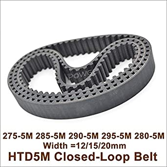 295-5m-15 Htd Correa Dentada 295 mm de largo de 15 mm de ancho y 5 Mm Pitch