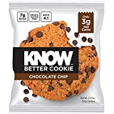 KNOW Foods - KNOW Better Cookie, Chocolate Chip, Keto Snack, Low Carb Snack, Protein Cookie, Gluten Free, 2.01oz Cookie, 8 Count