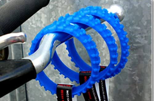 2 MX BLUE GLOW IN THE DARK MOTOCROSS KNOBBY DIRTBIKE TIRE WRISTBAND