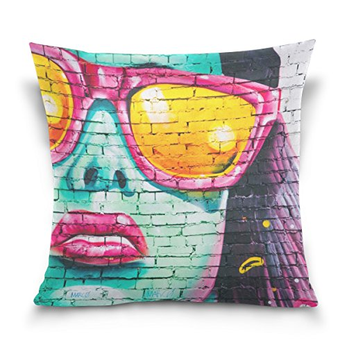 Jere Graffiti Wall Pillow Covers Decorative 20