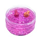 Cyhulu Cream Scented Slime Putty Fluffy Slime Toys, Fashion 100ML Fishbowl Bead Sequin Colour Goldfish Mud Mixing Cloud Slime Clay Kids Stress Reliever Toy, Party Birthday Favors (Pink, One size)