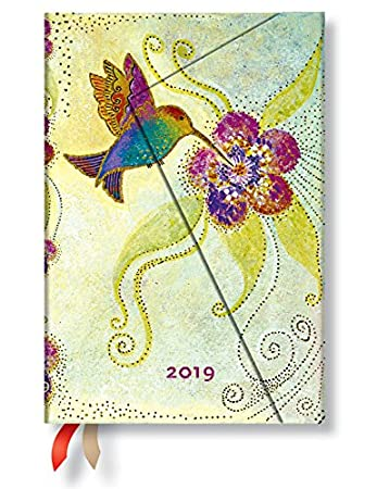 Paperblanks 2019 12M Mini Weekly Planner 3 x 5 Horizontal (Hummingbird)