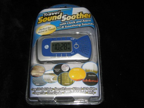 NEW Travel SOUND SOOTHER ALarm Clock & Sounds