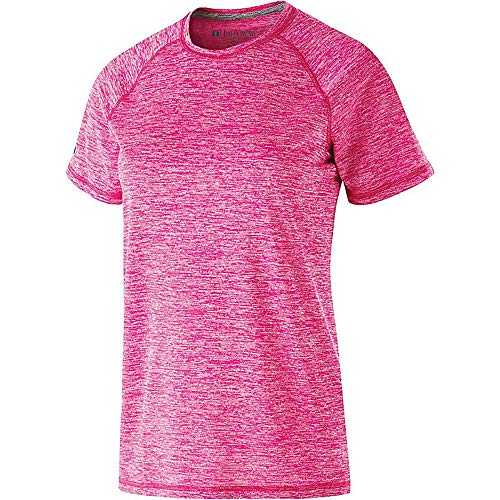 V95 Light (Ladies Electrify 2.0 Shirt Short Sleeve - POWER PINK HEATHER - XS)