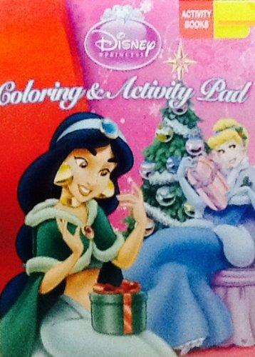 Disney Princess! Coloring & Activity Flip Top Pad! 64 Pages!!! Holiday Book! Christmas!