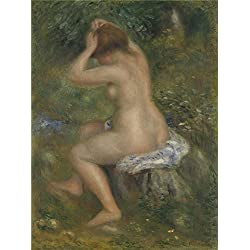 Perfect Effect Canvas ,the Imitations Art DecorativeCanvas Prints Of Oil Painting 'Pierre Auguste Renoir A Bather ', 8 X 11 Inch / 20 X 27 Cm Is Best For Bedroom Gallery Art And Home Artwork And Gifts