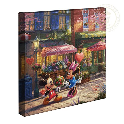 Thomas Kinkade Disney Mickey and Minnie Sweetheart Cafe