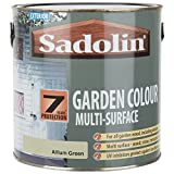 Sadolin Exterior Garden Colour Multi-Surface Woodstain For Wooden Decking, Stone, Metal and Plastic - Allium Green 2.5L