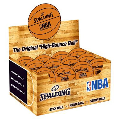 Spalding 51161 Spaldeen High-Bounce Ball - NBA Basketball Design, Orange by Spalding