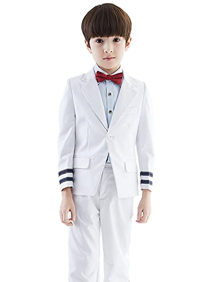 9144acb3e65f SK Studio Boys  4-Piece Outfit Regular Fit Wedding Dress Suits ...